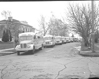 1936 School buses; 12th & Cowls, McMinnville