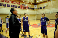 Linfield mens basketball practice